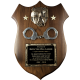 Large Shield Plaque with Casting