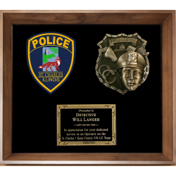Framed Display Award - Police Casting