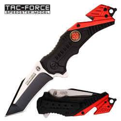Red Split Color Firefighter Knife