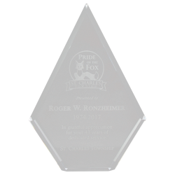 Clear Acrylic Diamond Police Award