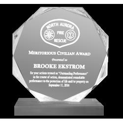Octagon Acrylic Police Award