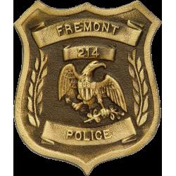 Custom Police Bronze Grave Marker