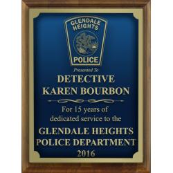 Custom Engraved Police Plaque