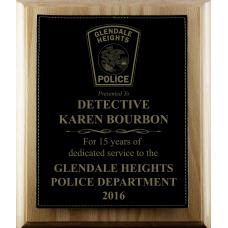 Leatherette Police Plaque