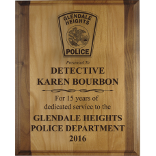 Alder Law Enforcement Plaque