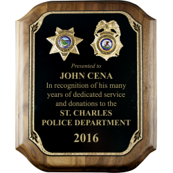 Full Plate Police Badge Plaque