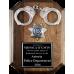 Police Handcuff Plaque