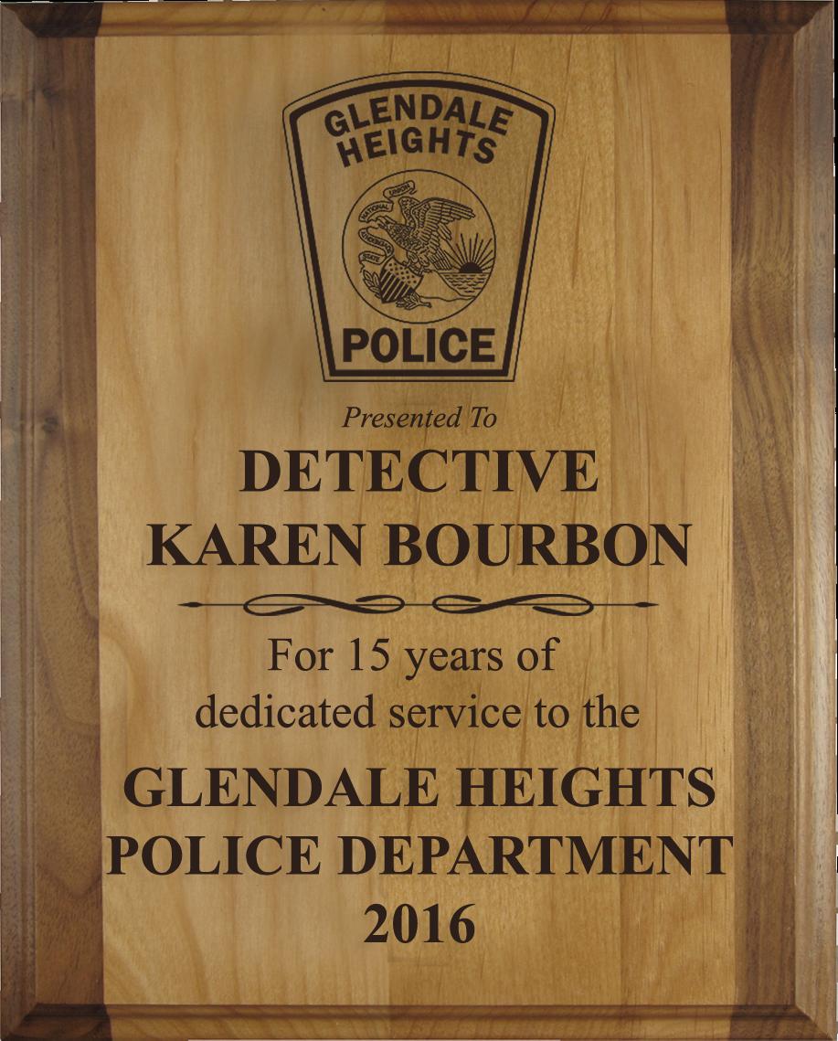 Alder Law Enforcement Plaque